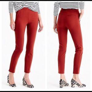 J Crew Martie Ankle Bi-Stretch Cotton Pants 4 NWT